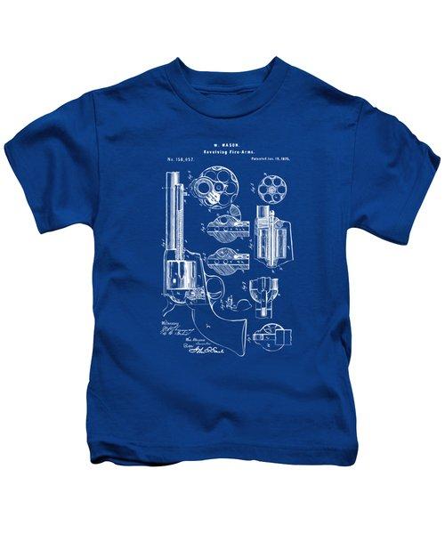 1875 Colt Peacemaker Revolver Patent Blueprint Kids T-Shirt