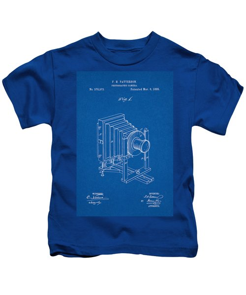 1888 Camera Us Patent Invention Drawing - Blueprint Kids T-Shirt