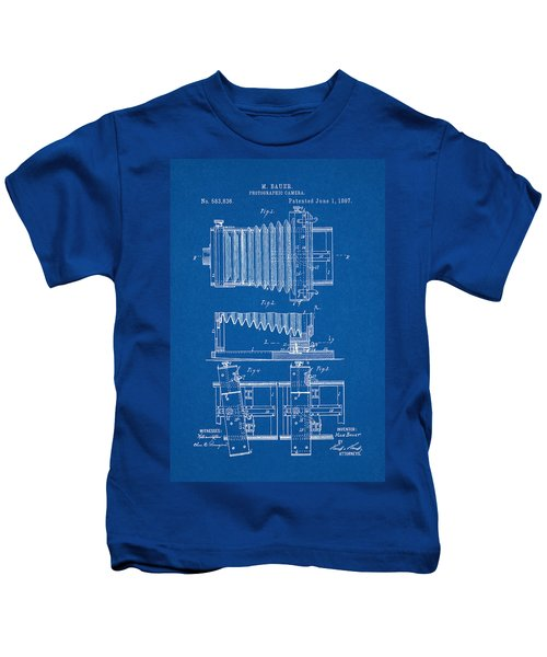 1897 Camera Us Patent Invention Drawing - Blueprint Kids T-Shirt