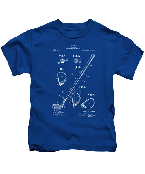 1910 Golf Club Patent Artwork Kids T-Shirt