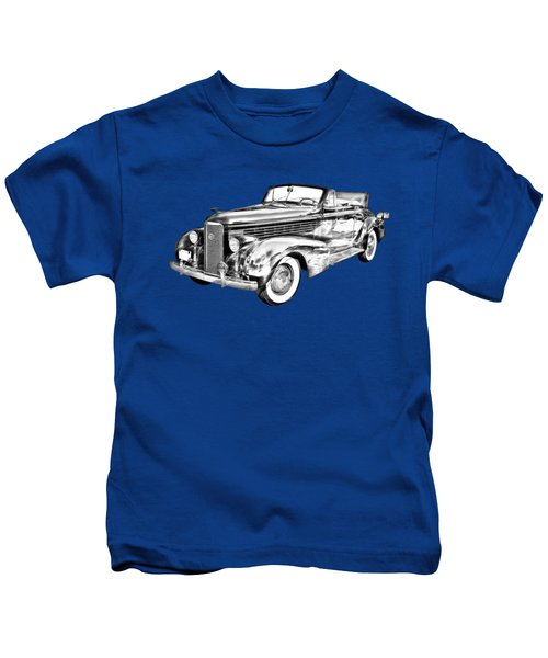 1938 Cadillac Lasalle Illustration Kids T-Shirt