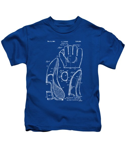 1941 Baseball Glove Patent - Blueprint Kids T-Shirt