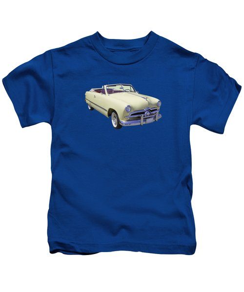 1949 Ford Custom Deluxe Convertible Kids T-Shirt