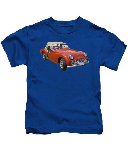 1957 Triumph Tr3 Convertible Sportscar Kids T-Shirt