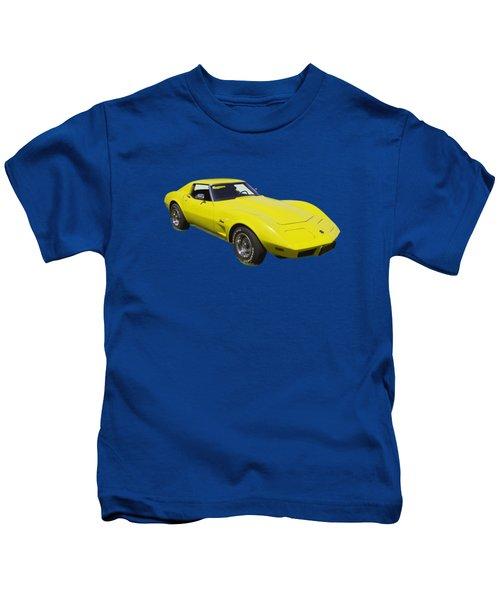 1975 Corvette Stingray Sportscar Kids T-Shirt