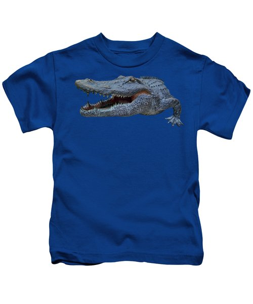 1998 Bull Gator Up Close Transparent For Customization Kids T-Shirt by D Hackett