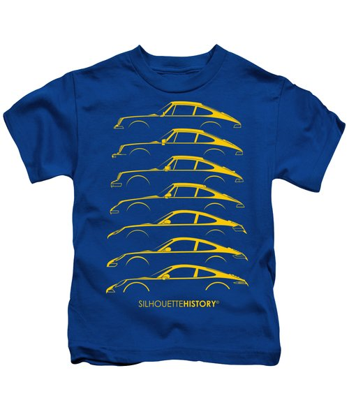 Boxer Sports Car Silhouettehistory Kids T-Shirt