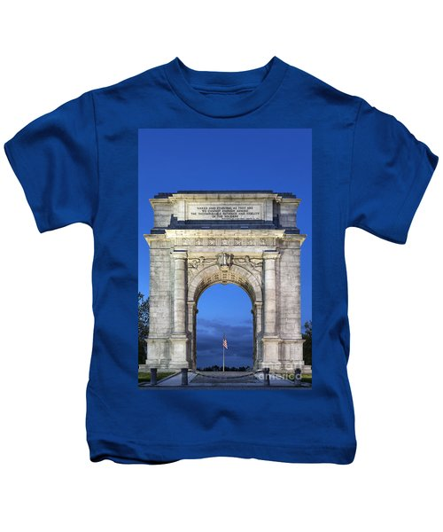 Memorial Arch Valley Forge Kids T-Shirt