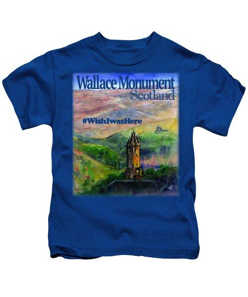 Wallace Monument Scotland Kids T-Shirt