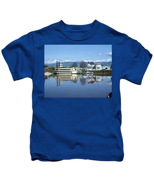 3b6380 Petaluma Queen Riverboat Kids T-Shirt