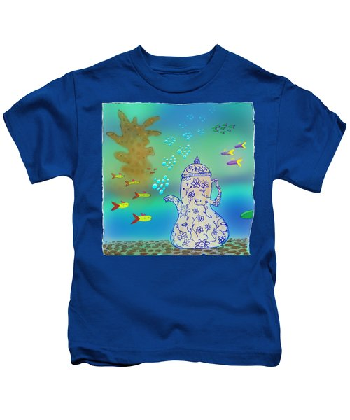 A Fishy Tea Pot Kids T-Shirt