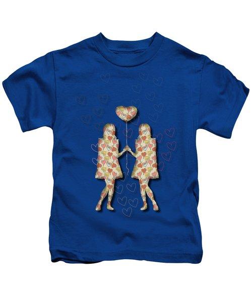 A Girl Loves A Girl Kids T-Shirt