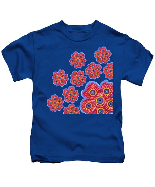 A Lot Of Red Flowers Kids T-Shirt