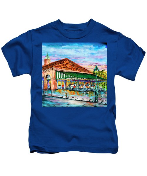 A Morning At Cafe Du Monde Kids T-Shirt
