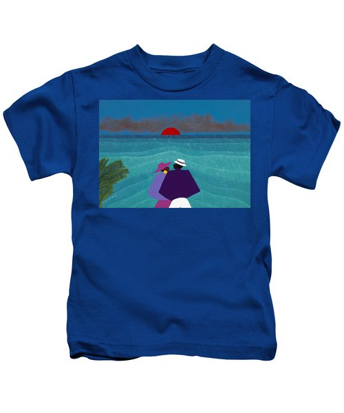 A Turks And Caicos Sunset Kids T-Shirt