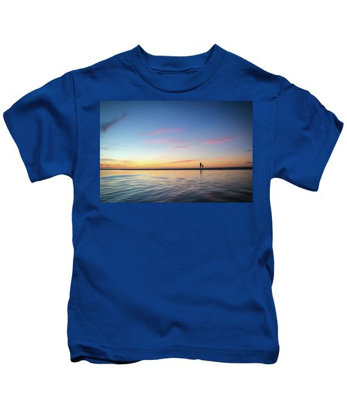 A Twilight Beach Walk Kids T-Shirt