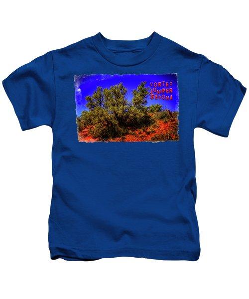 A Vortex Juniper Near Sedona Arizona Kids T-Shirt