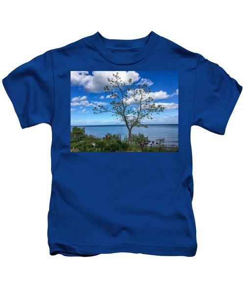 A Walk Along Lake Michigan Kids T-Shirt