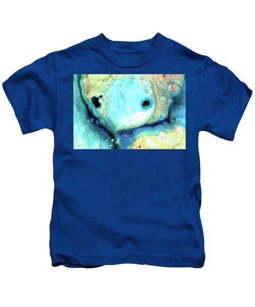 Abstract Art - Holding On - Sharon Cummings Kids T-Shirt