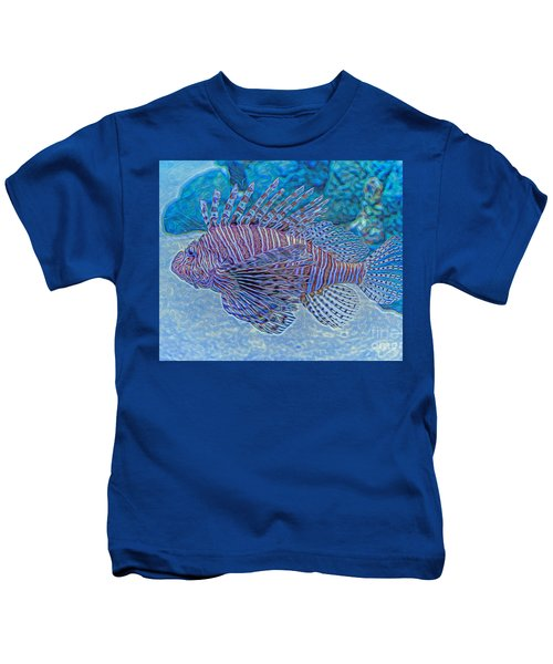 Abstract Lionfish Kids T-Shirt