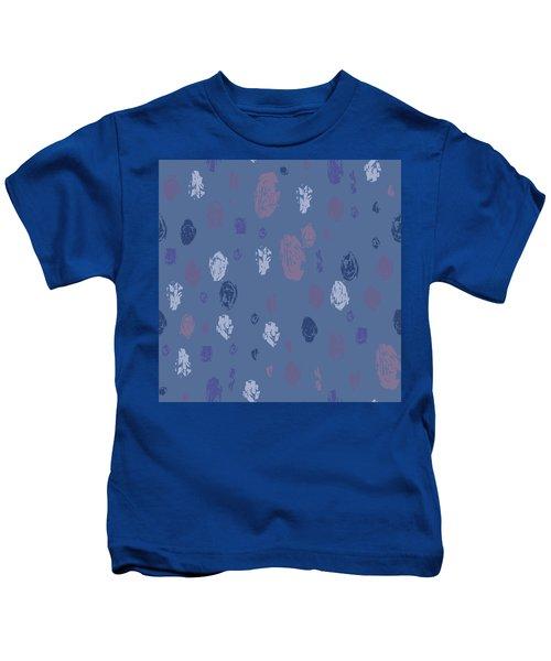 Abstract Rain On Blue Kids T-Shirt