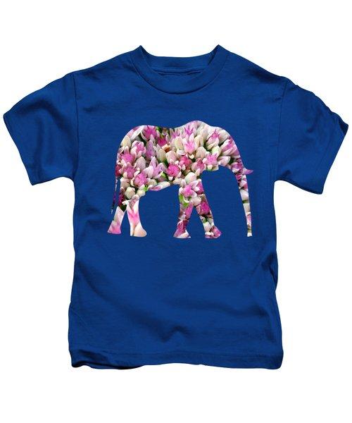 Abstract Sedum Kids T-Shirt by Christina Rollo