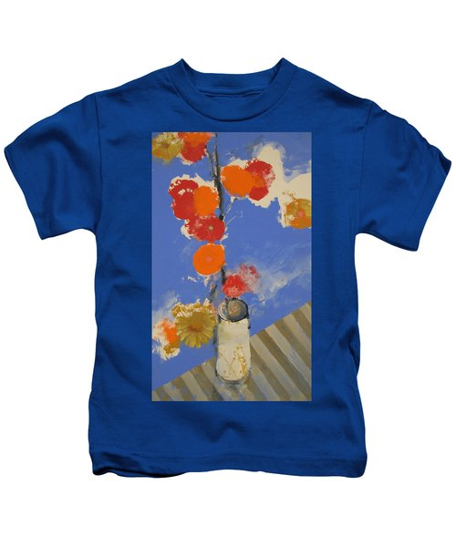 Abstracted Flowers In Ceramic Vase  Kids T-Shirt