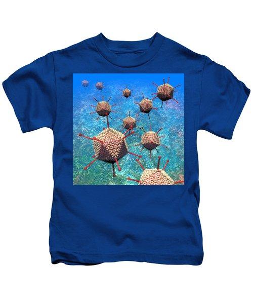 Adenovirus Particles 3 Kids T-Shirt