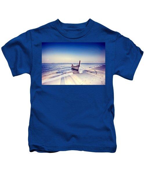 After A Hard Day Kids T-Shirt
