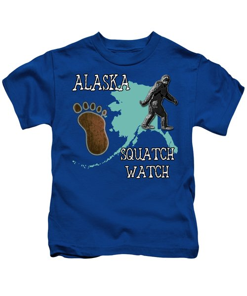 Alaska Squatch Watch Kids T-Shirt