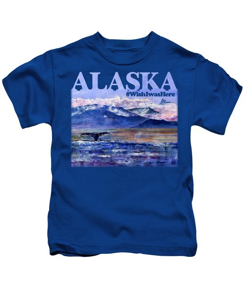 Alaskan Landscape On Water Shirt Kids T-Shirt