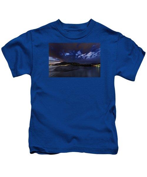 Albenga Alassio Coast Sunset With Clouds... Kids T-Shirt