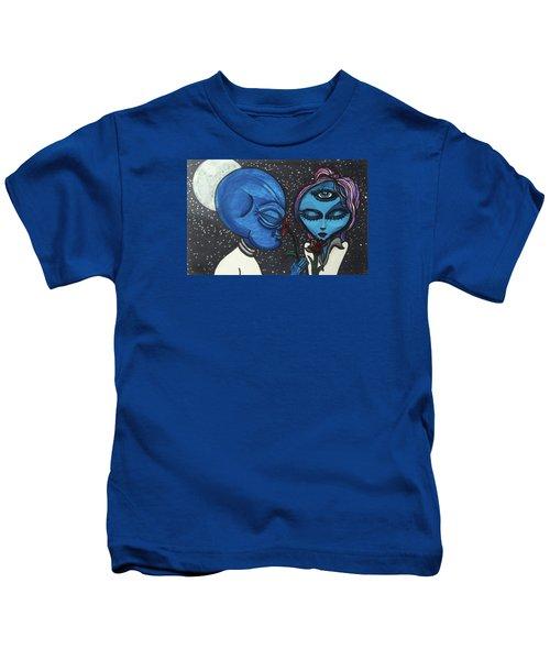 Aliens Love Flowers Kids T-Shirt