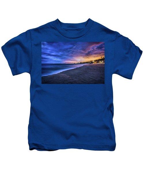 Aliso Beach Lights Kids T-Shirt