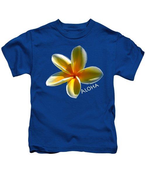Aloha Plumeria Kids T-Shirt