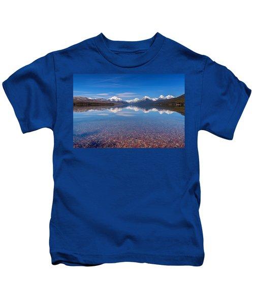 Apgar Beach Rocky Shore Kids T-Shirt