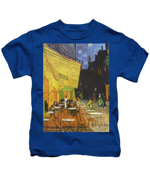 Arles Cafe Terrace At Night Kids T-Shirt