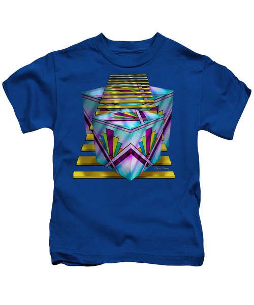 Art Deco Cubes 1 - Transparent Kids T-Shirt