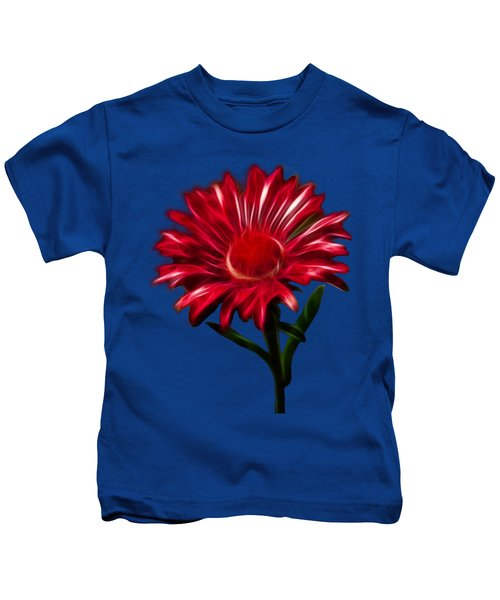 Red Daisy Kids T-Shirt by Shane Bechler