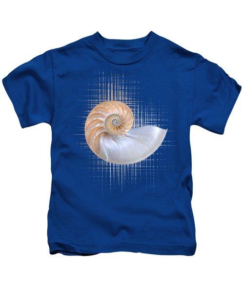 Nautilus Seashell Abstract - Vertical Kids T-Shirt