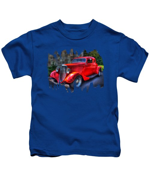 1934 Red Ford Coupe Kids T-Shirt