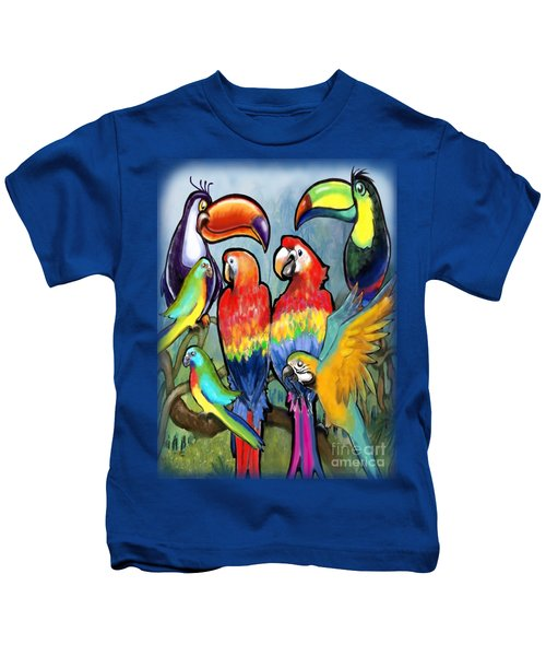 Tropical Birds Kids T-Shirt by Kevin Middleton