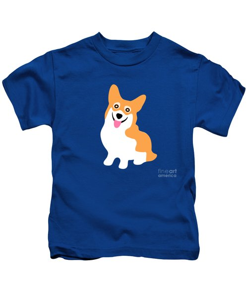 Smiling Corgi Pup Kids T-Shirt
