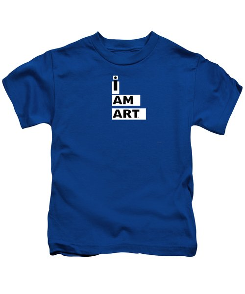 I Am Art Stripes- Design By Linda Woods Kids T-Shirt