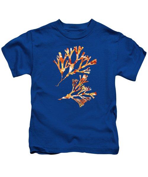 British Algae Abstract Fucus Vesiculosus Kids T-Shirt