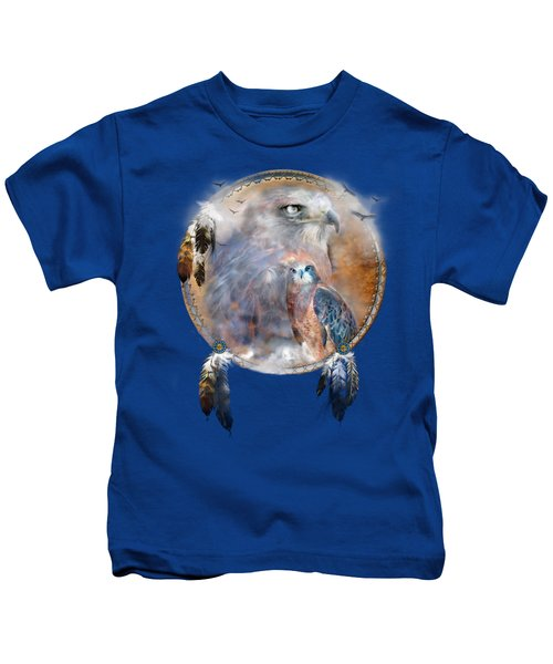 Dream Catcher - Hawk Spirit Kids T-Shirt