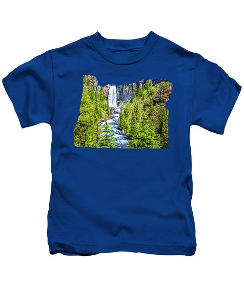 Tumalo Falls Oregon Canvas Print,photographic Print,art Print,framed Print,greeting Card,iphone Case Kids T-Shirt