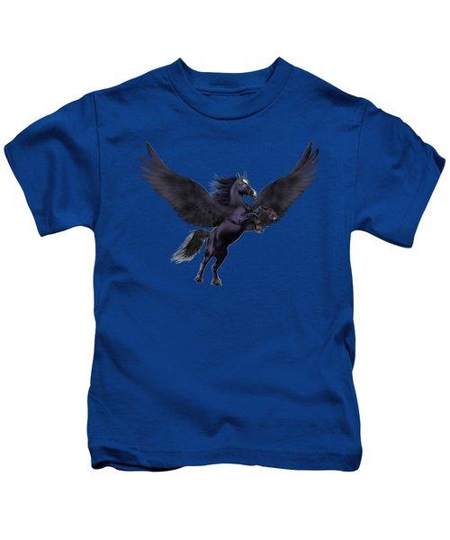Mystical Sunset Pegasus Kids T-Shirt