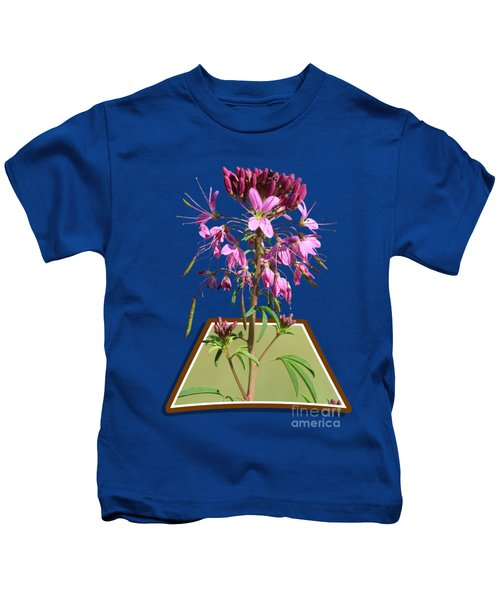 Rocky Mountain Bee Plant Kids T-Shirt by Shane Bechler