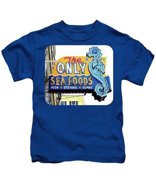 Cafe Sign Kids T-Shirt by Ethna Gillespie